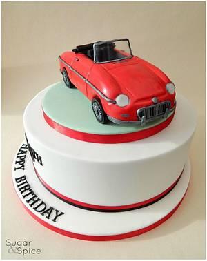 1972 MGB Roadster  - Cake by Sugargourmande Lou