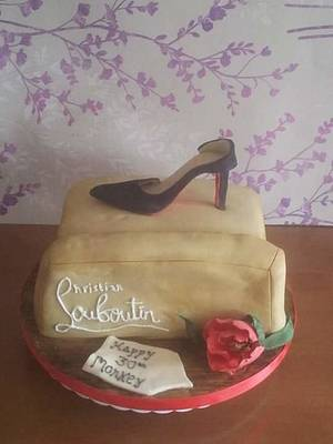 Christian Louboutin Shoe Box 30th Cake  - Cake by Truly Scrumptious Cakes by Christine