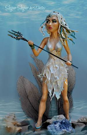 "Amphitrite - ""Under The Sea"" Collaboration - Cake by Sandra Smiley"