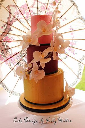 Oriental Orchids - Cake by Holly Miller