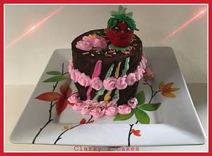 "HAPPY 🍓 BIRTHDAY 🍓 SUE - Cake by June (""Clarky's Cakes"")"