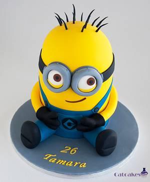 Minion cake - Cake by Catcakes