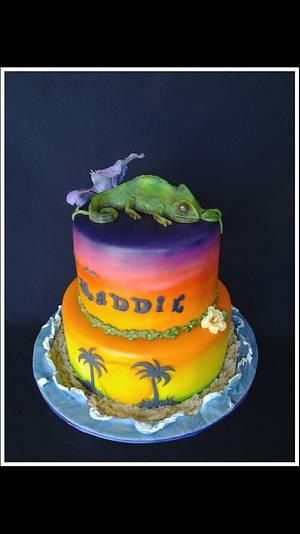 Tropical Sunset - Cake by Suzie Wilcox