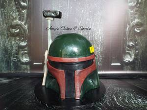 Boba Fett Helmet- Star Wars - Cake by Amy'z Cakez & Sweetz