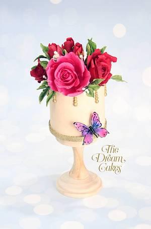 Vibrant Roses - Cake by Ashwini Sarabhai