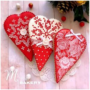 """Christmas Heart cookies - Cake by Nadia """"My Little Bakery"""""""