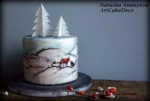 Winter in County Wicklow  - Cake by Natasha Ananyeva (CakeVirtuoso Studio)