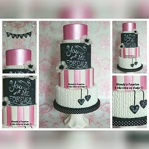 Wedding cake chalkboard - Cake by Wendy Schlagwein