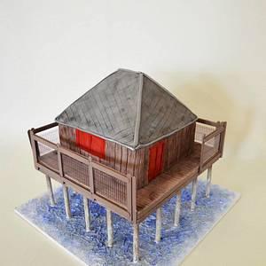 Sea Hut Cake - Cake by Une Fille en Cuisine