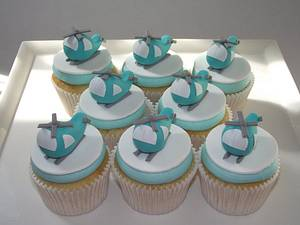 Helicopter Cupcakes - Cake by Alison