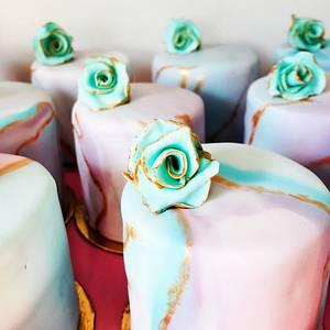 Gilded Marble Mini Cakes - Cake by Bombshell Bakes