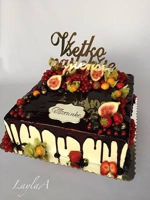 Fruit drip cake  - Cake by Layla A