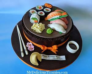 Chocolate Sushi Cake - Cake by Oksana Krasulya - My Delicious Tiramisu LLC