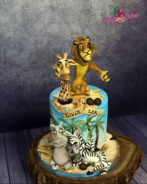 Madagascar movie - Cake by crazycakes