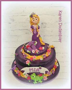 My Little Rapunzel  - Cake by Karen Dodenbier