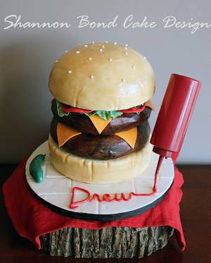 Double Cheeseburger Cake - Cake by Shannon Bond Cake Design