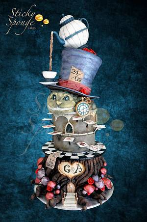 Alice in Wonderland Wedding Cake - Cake by Sticky Sponge Cake Studio