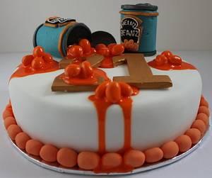 Baked Bean birthday cake! - Cake by Paul James