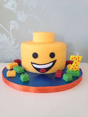 Lego head cake - Cake by Cake Love