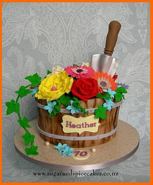 Flower Pot Cake - Cake by Mel_SugarandSpiceCakes