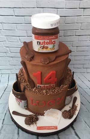 Nutella Birthday Cake - Cake by Lorraine Yarnold
