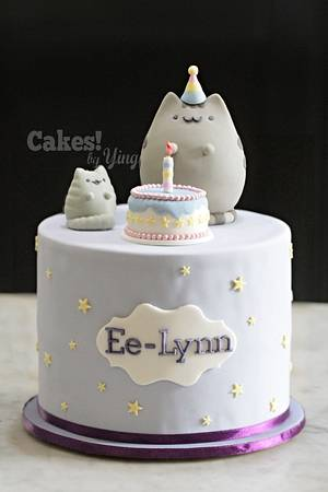 Pusheen's birthday! - Cake by Cakes! by Ying