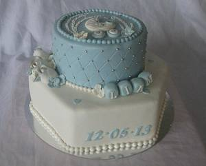 Blue selabration - Cake by Trine Skaar