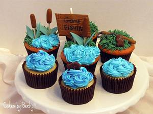 Gone Fishin' Cupcakes - Cake by Becky Pendergraft