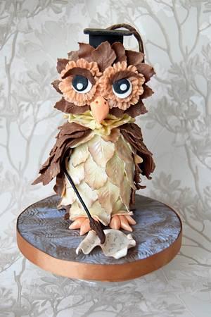 Oli the wise Owl - Cake by Zlatina Lewis Cake Boutique
