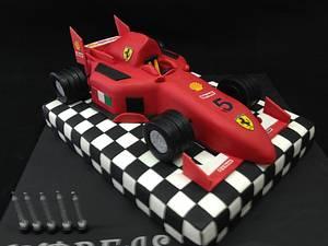 Ferrari formula 1 cake - Cake by Galatia