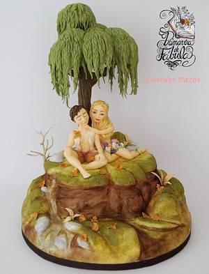 Cuando Otoño conoció a Primavera (Primavera de Fábula) - Cake by Lourdes Pazos