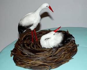 stork nest cake - Cake by Urszula Landowska