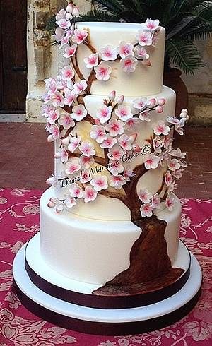 Almond Tree in Blossom Cake - Cake by Daniela Marchese