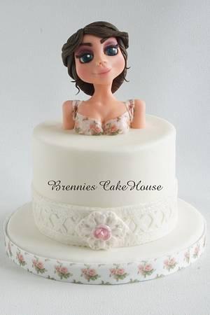 flower girl - Cake by Brenda Bakker