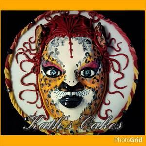 Cheetah sugar mask - Cake by Cakemummy