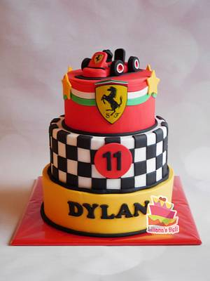 Race car cake - Cake by Liliana Vega