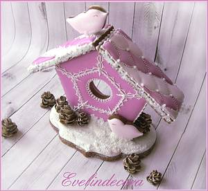 Icing cookies: Gingerbread house - Cake by Evelindecora