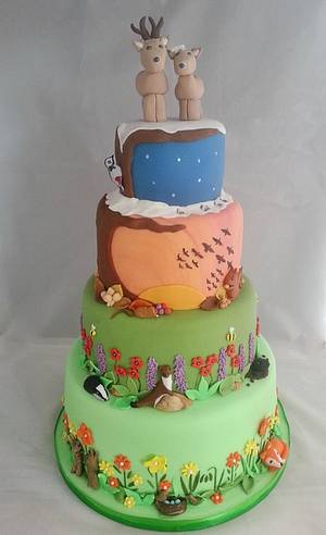 Seasons of the year wedding cake - Cake by Natalie's Cakes & Bakes
