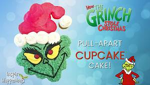 GRINCH PULL-APART CUPCAKE CAKE! - Cake by Miss Trendy Treats