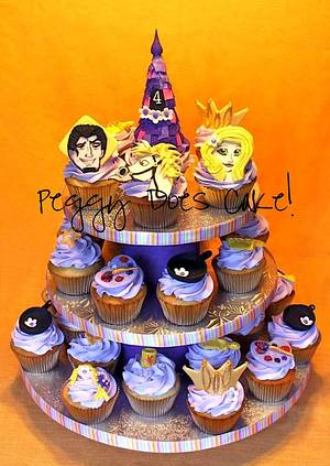 Tangled Cupcake Tower - Cake by Peggy Does Cake