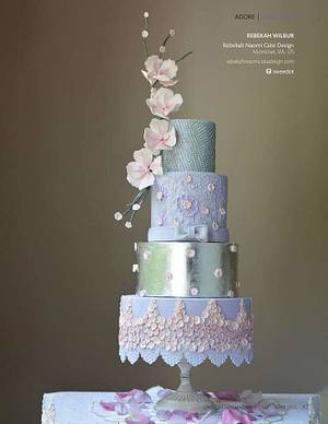 Abed Mahfouz inspired gown for Cake Central  - Cake by Rebekah Naomi Cake Design