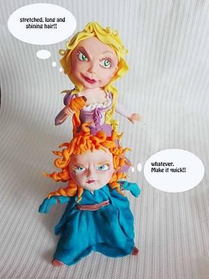 Disney princesses  - Cake by carlaquintas