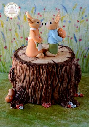 A Painted Easter - Easter Bunny Surprise - Cake by Sugarpatch Cakes