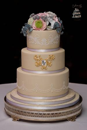 A winter wedding in Yorkshire - Cake by Cakes By No More Tiers (Fiona Brook)
