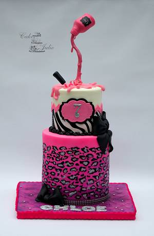Gravity Nail Polish Cake - Cake by Cakes By Julie