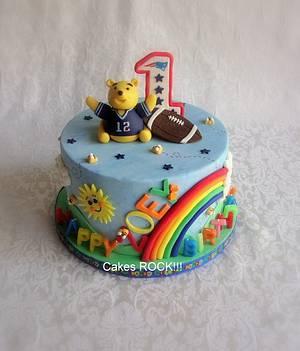 """Pooh Brady"" First Birthday - Cake by Cakes ROCK!!!"