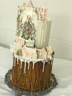 Bella aldea de Navidad  - Cake by Griselda de Pedro