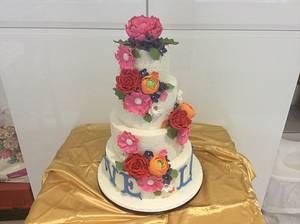 Something Blue - Cake by carefreecakes