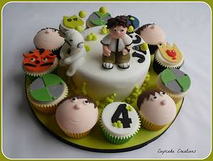 Ben 10 Cake & Cupcakes - Cake by Cupcakecreations