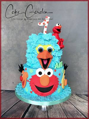 Elmo and friends cake... - Cake by Cake Garden